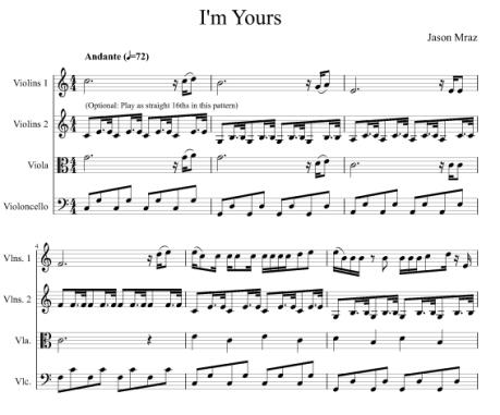I'm Yours by Jason Mraz
