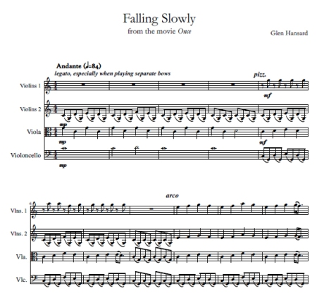 Falling Slowly Popped String Arrangements