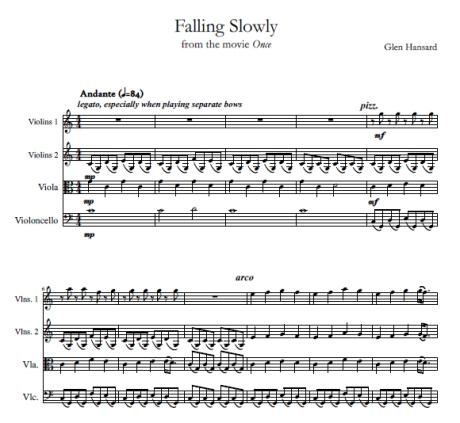 Falling Slowly Glen Hansard string quartet